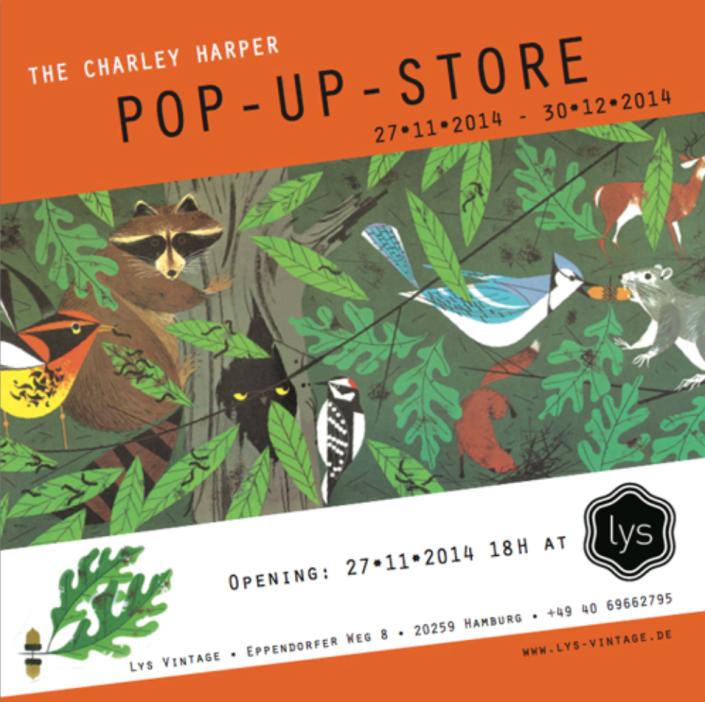 charley harper pop up store