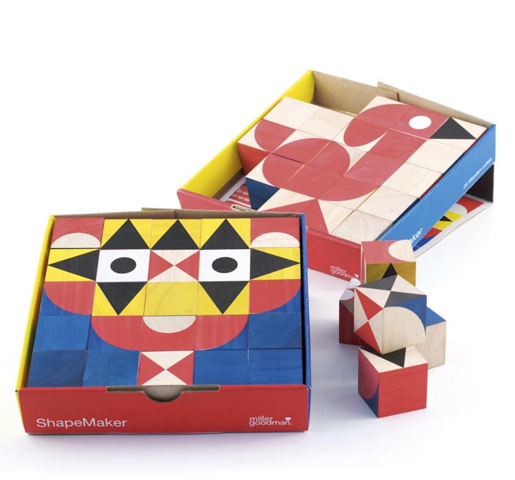 millergoodman_ShapeMaker Wooden Toy 25 Rubberwood Blocks